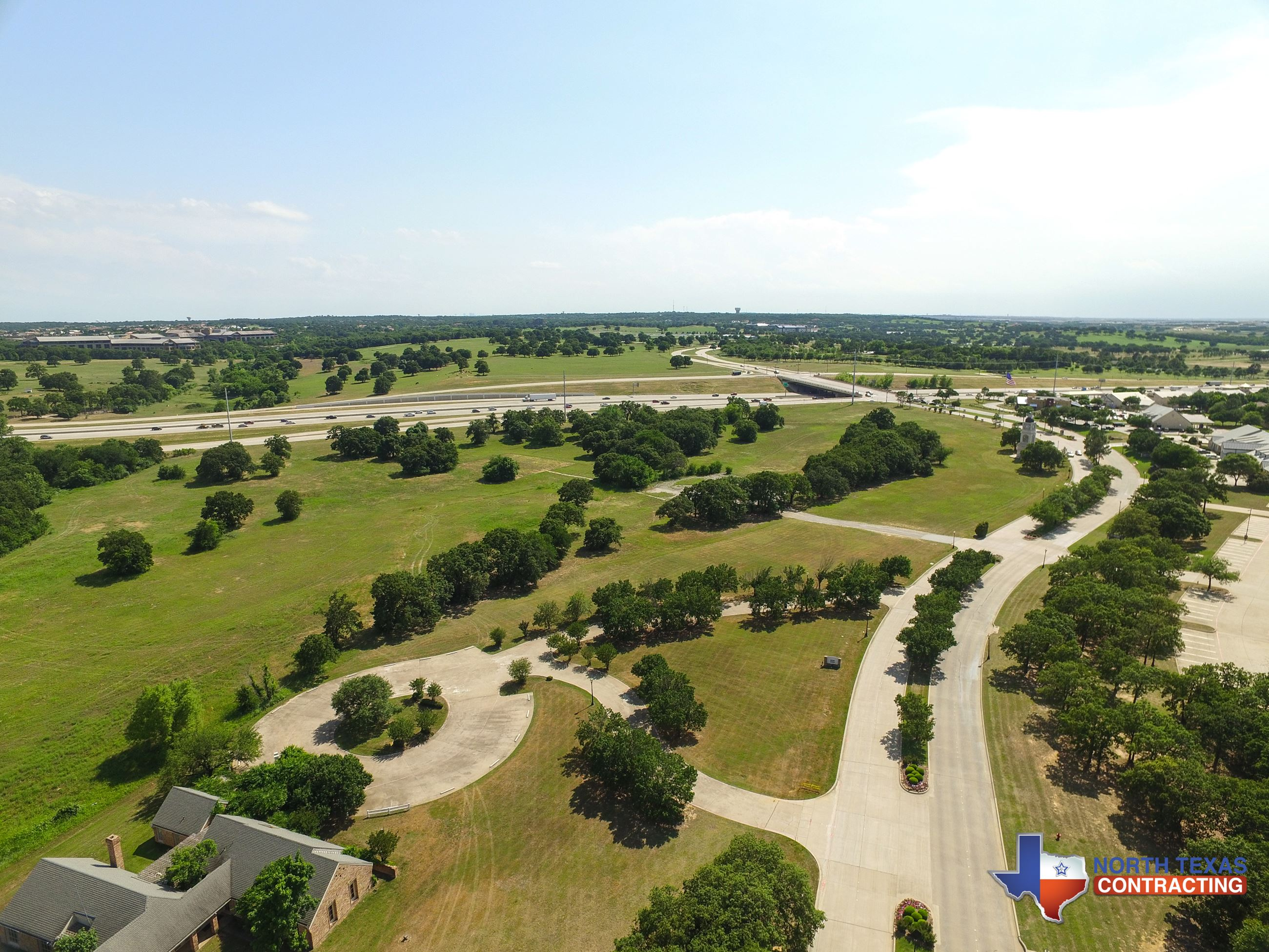 NTX Contracting - Aerial View of Where the Trophy Club Town Center Will Be - May 25