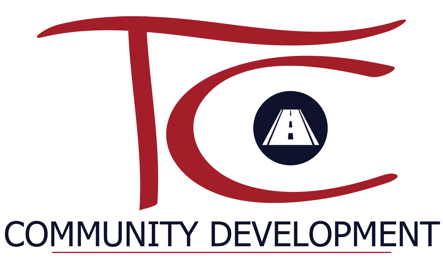 TC Community Development Icon Dept Logo Navy Red Line - Color w Transparent Background