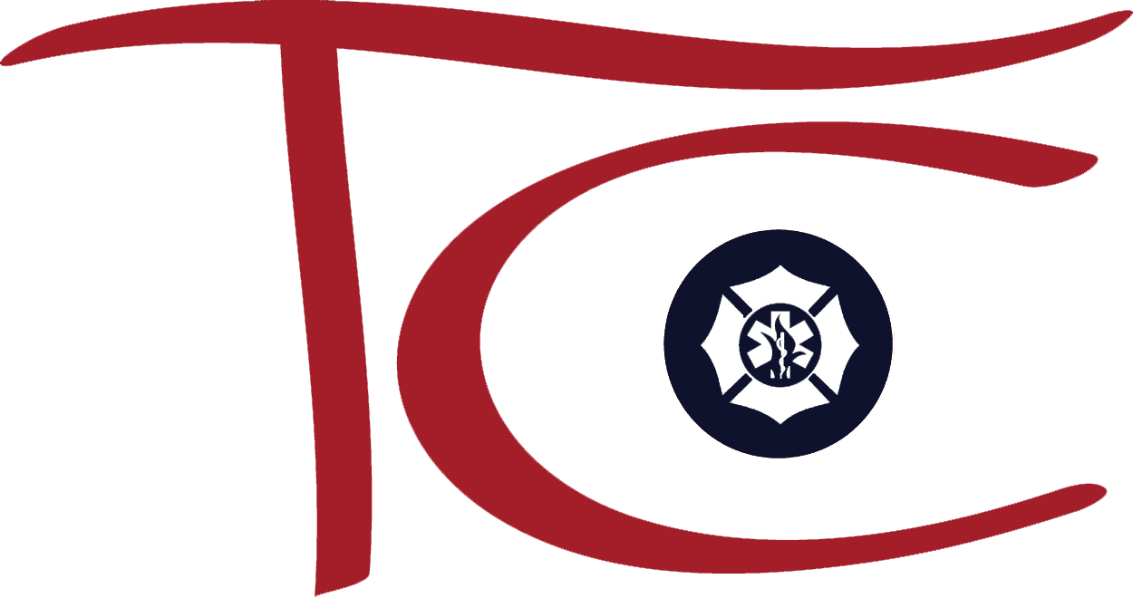TC Fire Icon Dept Logo Navy - Color w Transparent Background