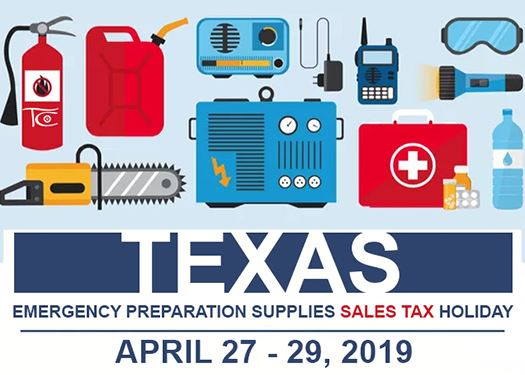 Emergency Supplies Tax Free Weekend News Flash
