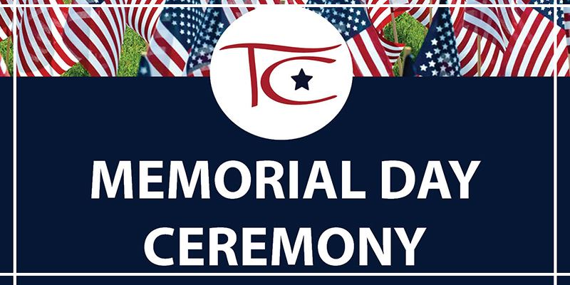 Memorial Day Ceremony Website Banner