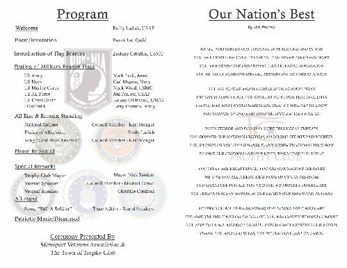 Veterans Day 2019 Program 2