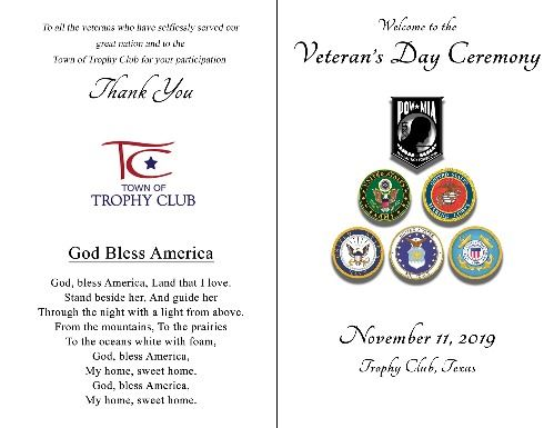 Veterans Day 2019 Program 1