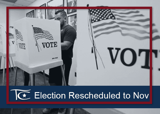 Election Rescheduled