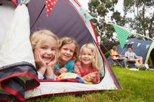 Three Children in a Tent