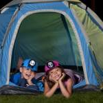 Two Children in a Tent