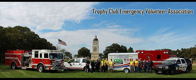 Trophy Club Emergency Volunteer Association Vehicle and Employee Photo