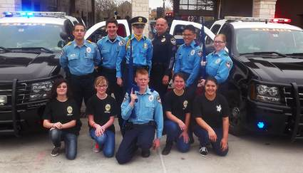 Police Explorers Group 2015