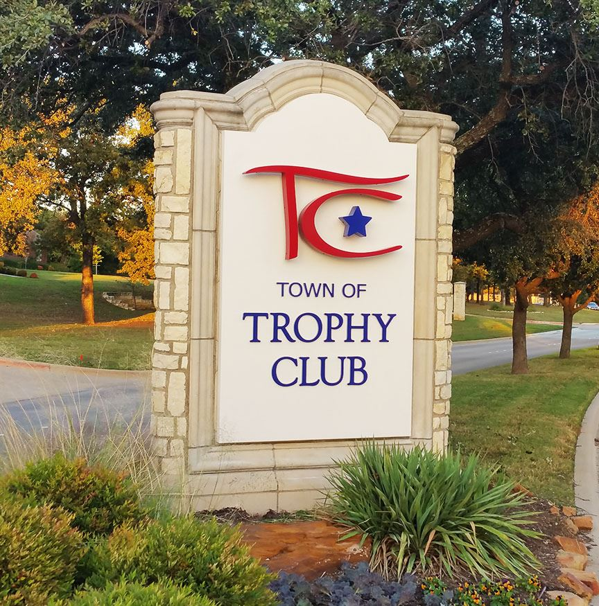 Trophy Club Sign