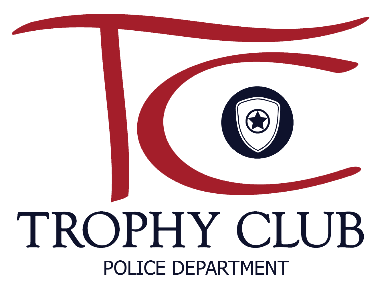 TC Police Dept Logo Navy- Color w Transparent Background
