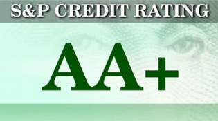 S and P Credit Rating AA+