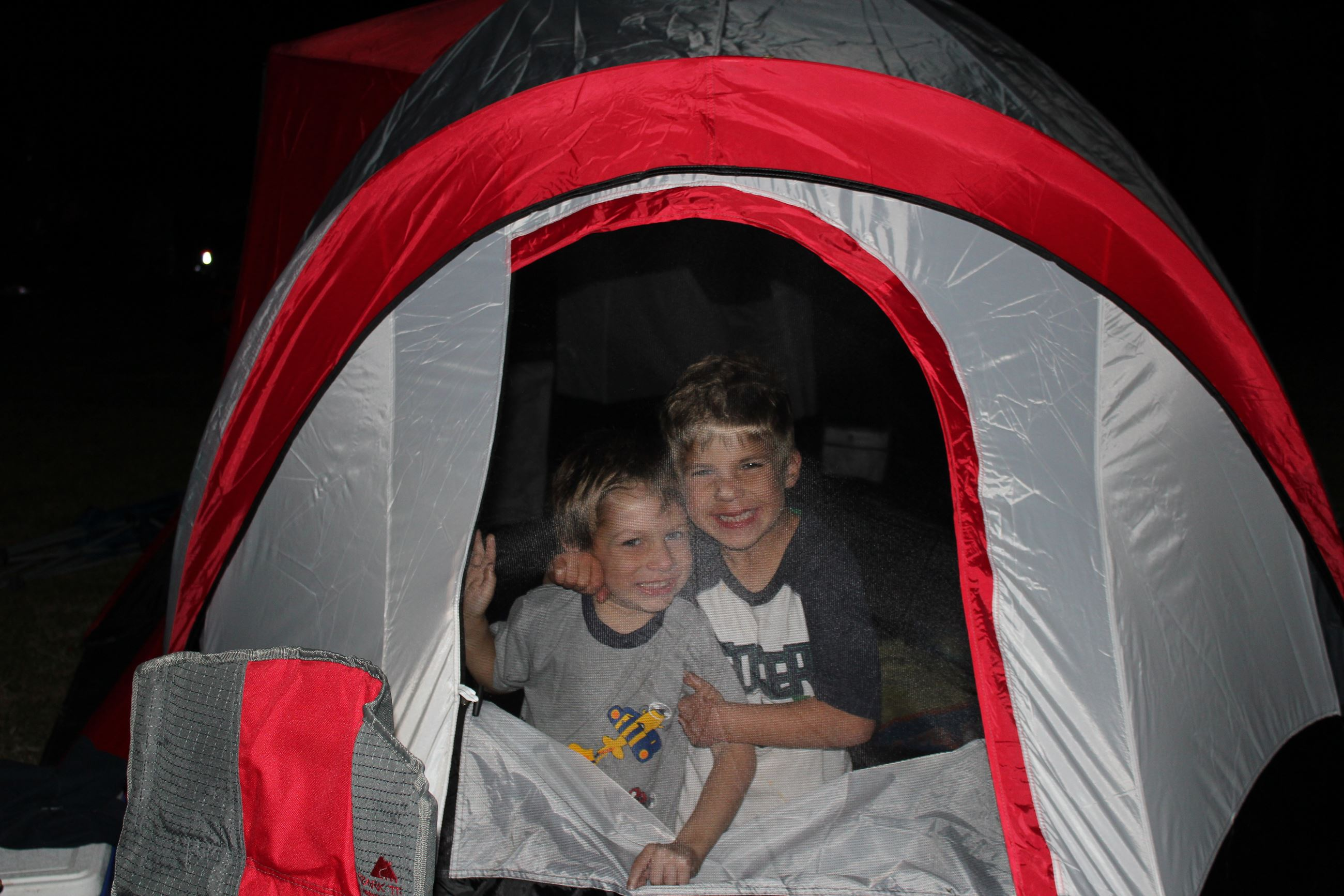 Two Boys in a Tent