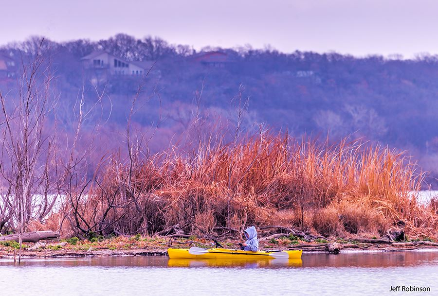 Man on a Canoe