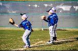 Three Baseball Boys playing catch