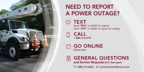 Need to Report a Power Outage, Text, Call, Go Online, General Questions