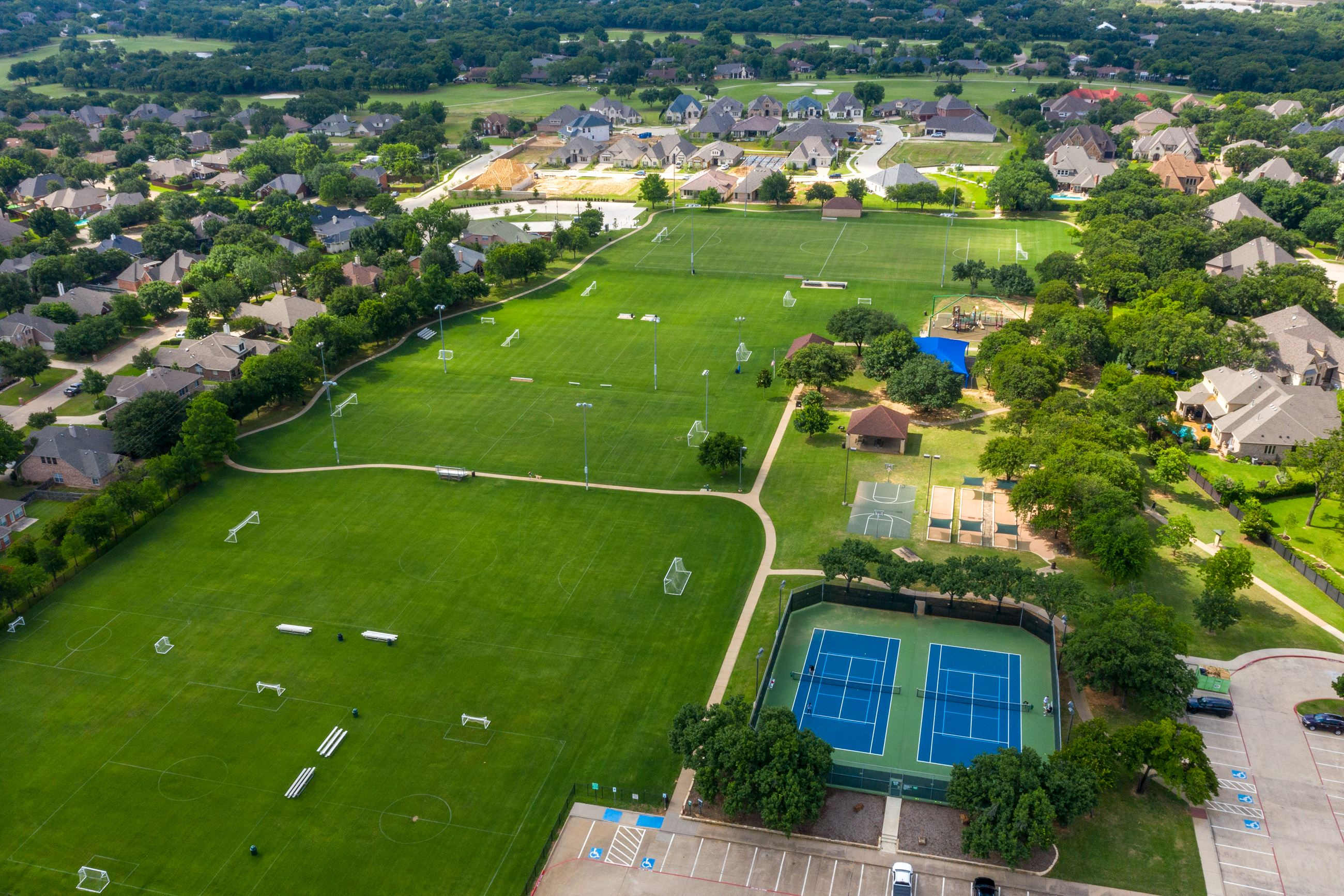 Overhead view of Harmony Park