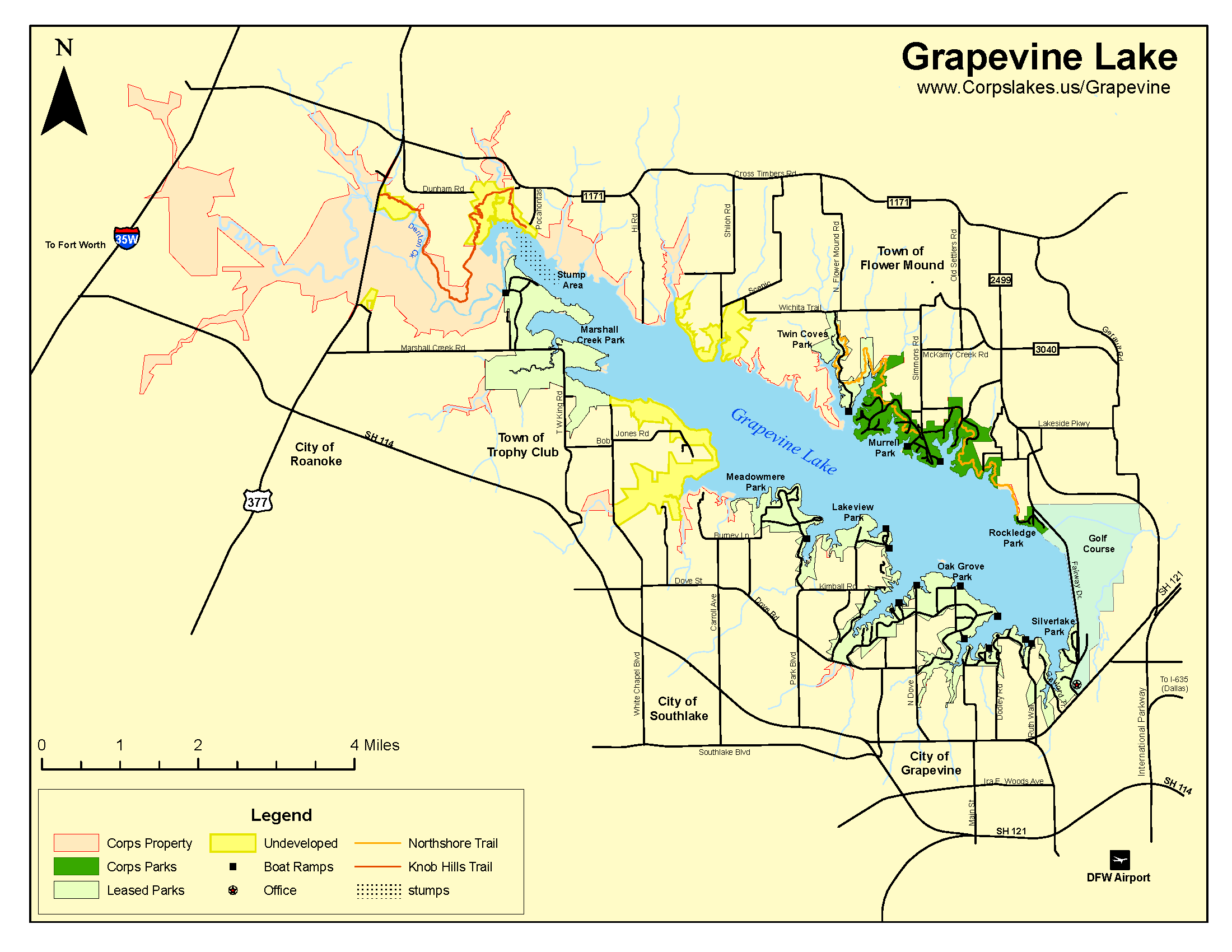 Grapevine lake map final