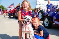 Fourth of July Girls and Dog Opens in new window