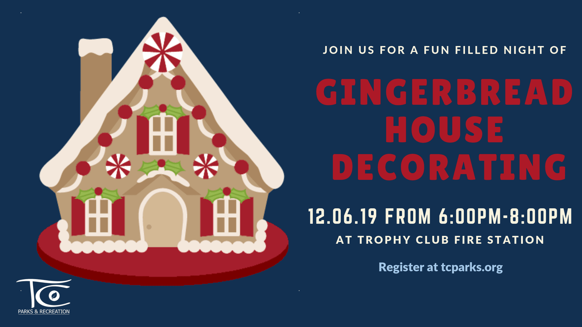 Gingerbread House Decorating Promotional Banner