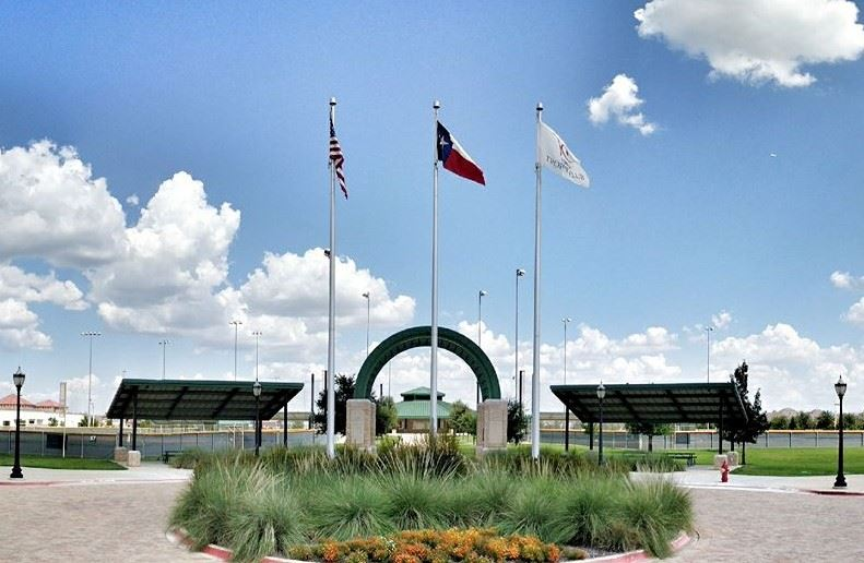 Three Flag Poles at Indy East Park